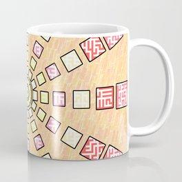 Ethnic wheel in pink Coffee Mug