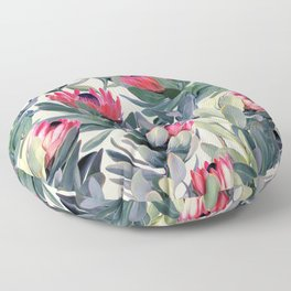 Painted Protea Pattern Floor Pillow