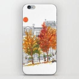 Autumn Cityscape iPhone Skin