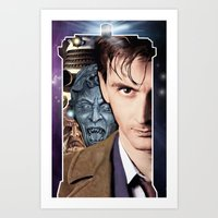 doctor who Art Prints featuring Doctor Who by SB Art Productions