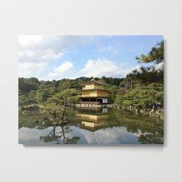 Kinkaku-ji Golden Temple Tokyo Japan Metal Print