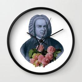 Bach Flowers Wall Clock