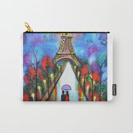Love In Paris Romantic Painting Valentine Giftart Carry-All Pouch