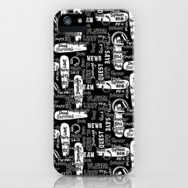 Gamer Lingo-Black and White iPhone Case
