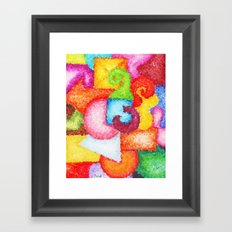 Shapes- Cubist Style Framed Art Print