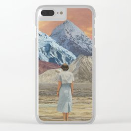 What is it about sunsets? Clear iPhone Case