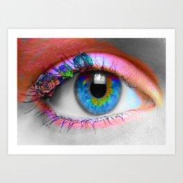 ojo rosado Art Print