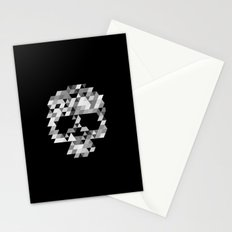 Skull bw Stationery Cards