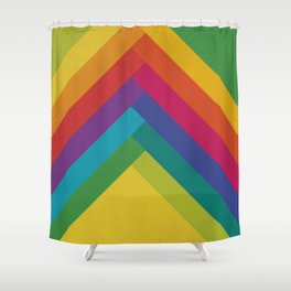 Bright Summer Lines Shower Curtain