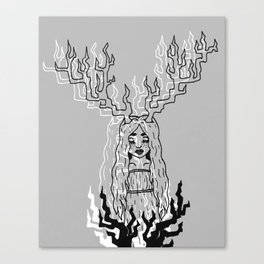 Doe Deer Canvas Print