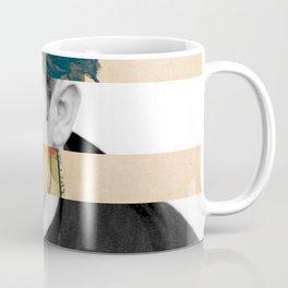 Egon Schiele's Self Portrait in a Striped Shirt & James D. Coffee Mug