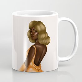 Beautiful Black Lady in Gold Dress Coffee Mug