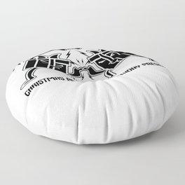 December Birthday Christmas Gift Fusion Floor Pillow