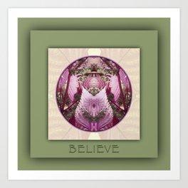 Believe Manifestation Mandala No. 2 Art Print