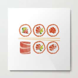 Tasty sushi Metal Print