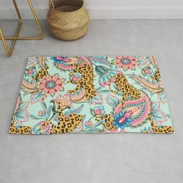 May The Jungle Be With You #pattern #illustration Rug