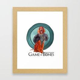 Game of Bones Sonsa as an Irish Setter Framed Art Print