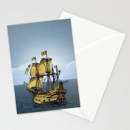 Ships That Pass In The Night Stationery Cards