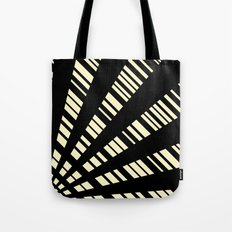 Fancy     Cream & Black Tote Bag