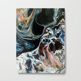 Abstract Melt X Metal Print