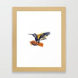 Hummingbird - Colour Framed Art Print