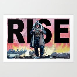 Bane Rise The Dark Knight Rises Pop Art Poster Art Print
