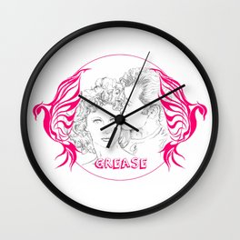 Grease (Sketch & bird design) Wall Clock