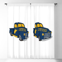 West Virginia Country Roads Antique Truck Vintage WV Map Gifts Blackout Curtain