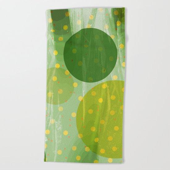 Abstract Dots Design Beach Towel