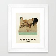Oregon state map modern Framed Art Print