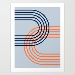 Counterbalance - orange blue Art Print