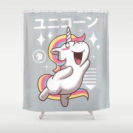 Kawaii Unicorn Shower Curtain