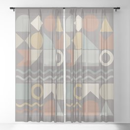 Geometric Shapes 02 Sheer Curtain