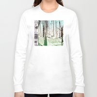 birch Long Sleeve T-shirts featuring Birch Forest by Phil Perkins