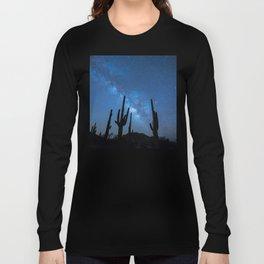 Cacti in the Desert before the Stars Long Sleeve T-shirt
