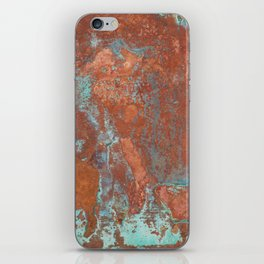 Tarnished Metal Copper Texture - Natural Marbling Industrial Art iPhone Skin