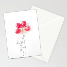 Grapes Ballons Stationery Cards
