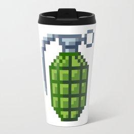 8-Bit Hand Grenade Travel Mug