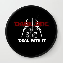 Dark Side, deal with it! Wall Clock