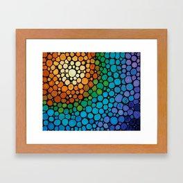 Blissful - Colorful Mosaic Art - Sharon Cummings Framed Art Print