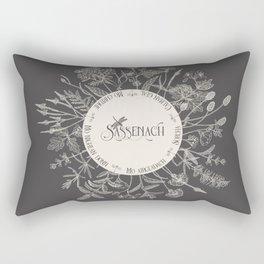 Dear Sassenach in Grey Rectangular Pillow