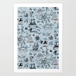 A Pirate's Life - Indigo Art Print