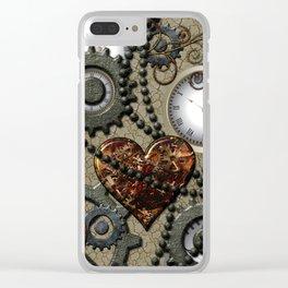 Steampunk II Clear iPhone Case