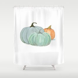 Colorful pumpkin trio Shower Curtain
