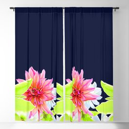 Magnolia Butterflies Boarder Blackout Curtain