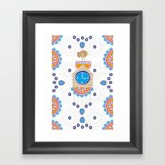 Evil Eye Cuckoo Clock Framed Art Print