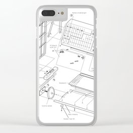 Korg MS-20 - exploded diagram Clear iPhone Case
