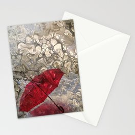 """""""Parapluie Perdu"""" (The Lost Umbrella) by Laurie Ann Hunter Stationery Cards"""