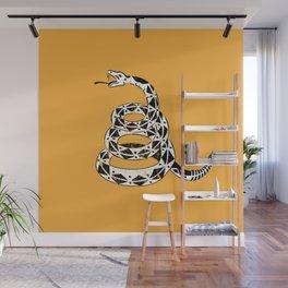 Don't Tread on Me Gadsden Flag Yellow Rattlesnake Snake Grunge Wall Mural