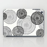 tree rings iPad Cases featuring rings by Claire Rose Kleese